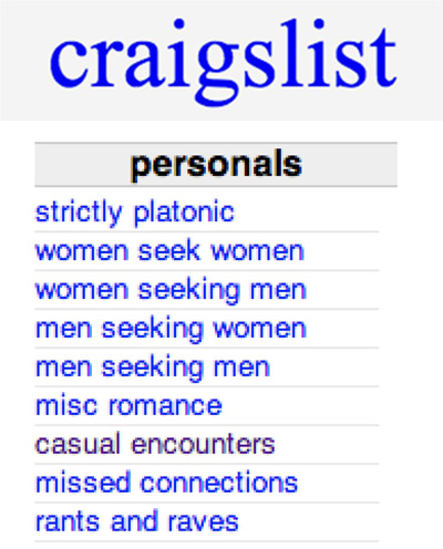 Personals like craigslist