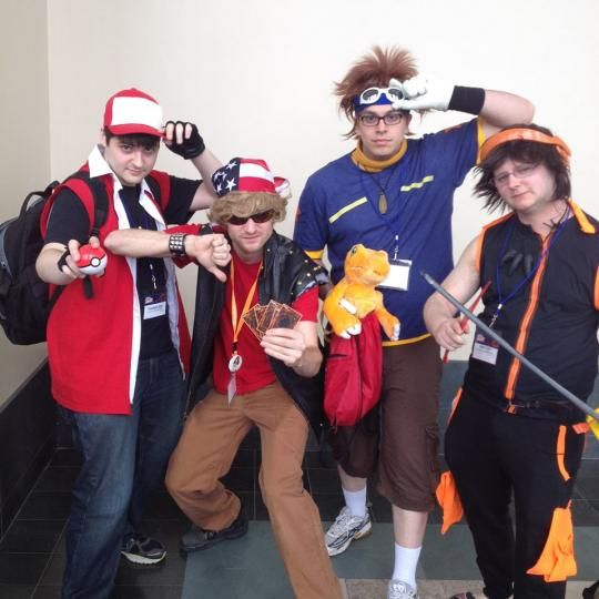 Me on the right as Yoh from Shaman King with some friends at Anime Boston 2014
