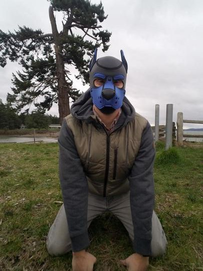I like being outdoors as long as I get to wear my hood! Woof