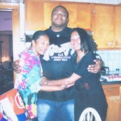 My Mom,Me(younger me age 25 & my Sister.