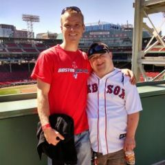 This is us at Fenway park in Boston Massachusetts on my birthday last year