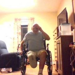 Just Me in my wheelchair. Ugly on the outside. Handsome on the inside.