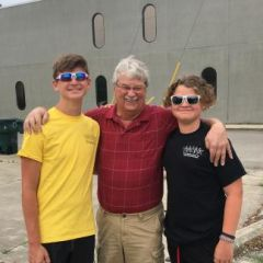 Myself and 2 grandsons summer 2020