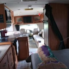 RV view fwd from Queen bed in rear